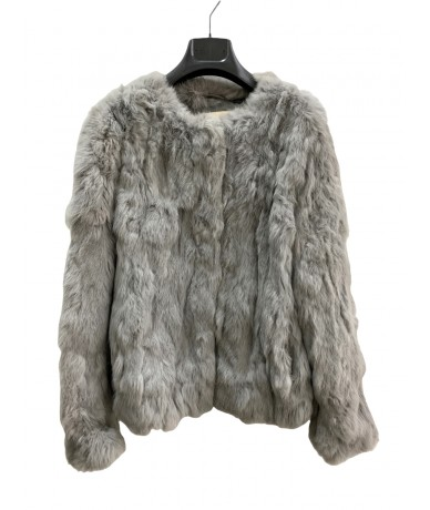 GAS Jacket in real Lapin fur, gray color, size 44