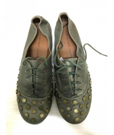 MARC By MARC JACOBS Shoes woman leather green bronze tg 39