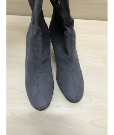 STELLA MCCARTNEY Boots size 38 gray color heel 8