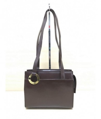CELINE Vintage dark brown leather shoulder bag