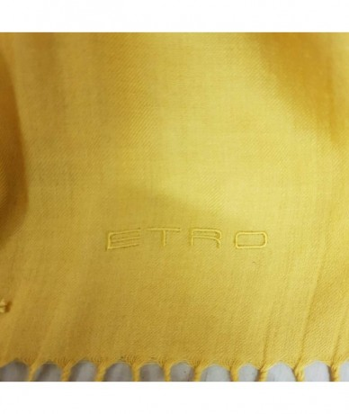 ETRO Scarves in yellow wool
